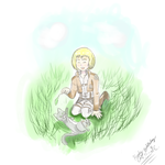 Armin And Kitty for Cat~ by JennaJayfeather