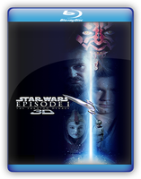 Phantom Menace 3D BluRay Cover Front by GreedLin
