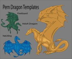 Pern Lineart Templates by Kaljaia