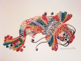 Koi Fish Quilling by SteffieSilva