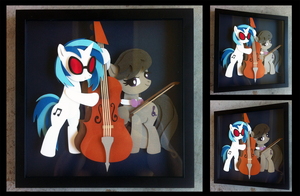 Commission:  Vinyl Scratch and Octavia Shadowbox by The-Paper-Pony