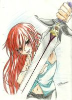 Erza Sword by MidnightlityDreams