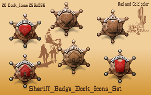 Sheriff_Badge_Dock_Icons_Set by giancarlo64