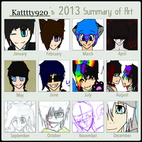 2013 Summary of Art by Katttty920