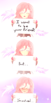 I want to be your friend... by SilverRose808