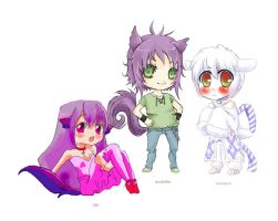 collab con PandaPoW y Lily 8D by Horoholikka