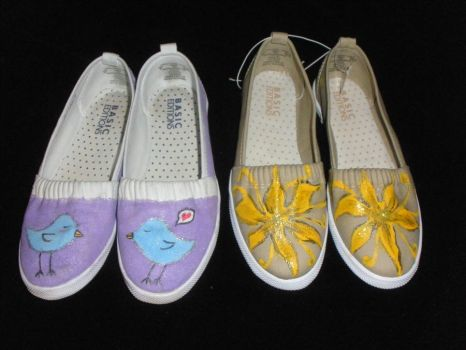 Handpainted SHOES by Jeniffer21