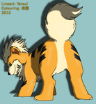 #58 Growlithe (Clean, Coloured) by RakuenGrowlithe