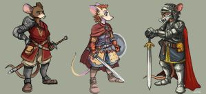 Mouse Knights by TheLivingShadow