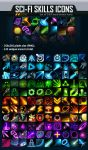 Sci-Fi Skill Icon Pack - 143 ICONS by GraphicAssets