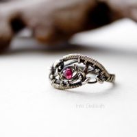 Sterling silver Ring with Garnet by taniri