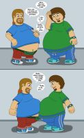 Bigger bellies of Big Matt and Comic Book Guy by MCsaurus