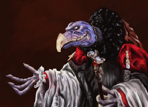 Skeksis | Digital Painting by Egregiousness