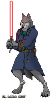 Gray Wolf's Lightsaber by ElLoboGris