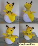 3D Origami Ampharos by OneLoneTree