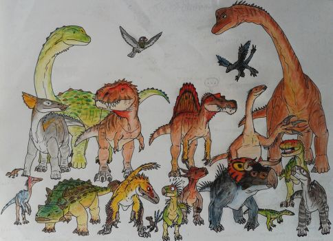 The great family of Dinosaurs by ZeWqt