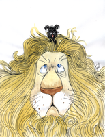 Cowardly Lion by DemonCartoonist