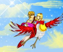 Zelda Skyward Sword: Let's Fly by CandiiGurll