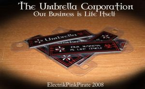Umbrella Corporation Keychain by ElectrikPinkPirate