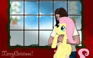 Kizi and Fluttershy by Milante