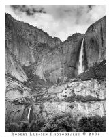 Upper and Lower Yosemite Falls by belialrising