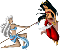 Commission: Jasmine and Kida by starfiregal92