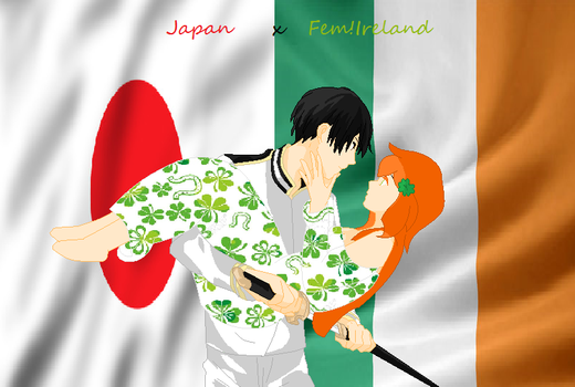 japan X fem! ireland by japanaph90