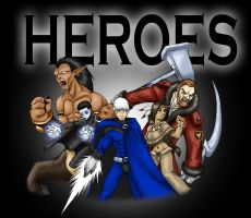 HEROES - The Mighty Five by pyrasterran
