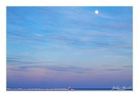 Lighthouse and the Moon by Julian-Bunker