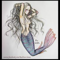 Mermaid - Tutorial Color by RedStar-Sama