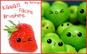 Kawaii Faces Brushes by Retryo