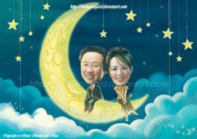 Love on The Moon By Reins by Reinsstudio