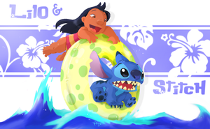 Lilo and Stitch. painted by chocolatecherry