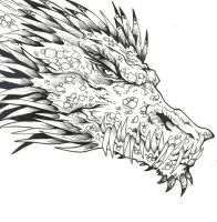 Dragon sketch By DW Miller by ConceptsByMiller