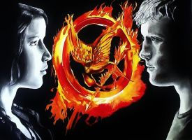 Katniss and Peeta by KaguraDragon