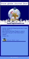 Snow Globe Journal Skin by Eternal-Skye
