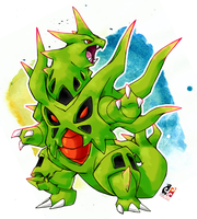 Juras the Mega Tyranitar by darksilvania