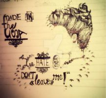 Demi Lovato Sketch - I Hate You ,Don't Leave Me by lovatochriss