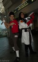 Scout and Medic by Aether-Shadow