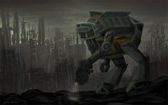 Zhu Waste Incinerator Mech by weilo82