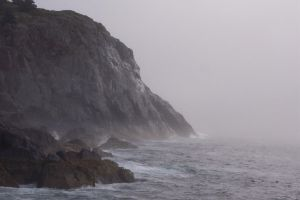 The High Cliffs of Monhegan by mirengraphics
