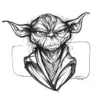 Yoda Sketch 01 by RobDuenas