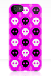 Pink Skull Phone Case by AquaDewRose