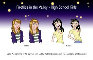 Game Art - High School Girls by Bleezer