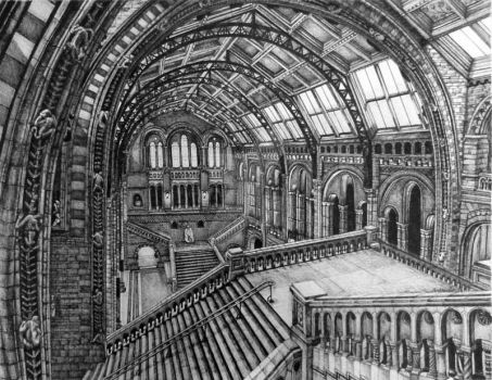 The Natural History Museum, London by Pigmentpixie
