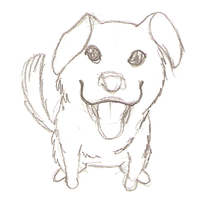 Puppy Dog Doodle by LovelyWaifu