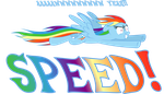 Rainbow Dash Awww Yeah SPEED! by Psyxofthoros