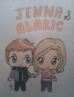Lil Jenna and Alaric by inuyashagirl82