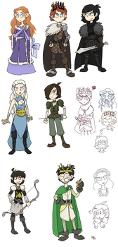 Game of Thrones/Asoiaf cartoon-style sketch by Grandkhan