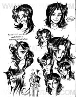 Much of Many Hairstyles Jade by alaer